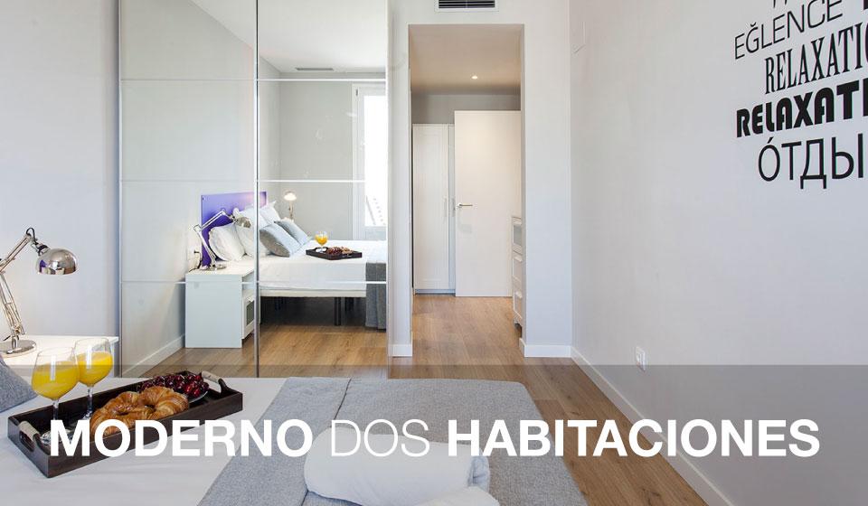 Moderno dos habitaciones